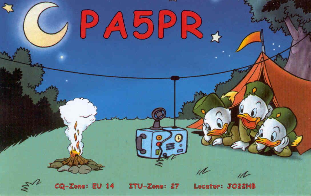 QSL card of PA5PR